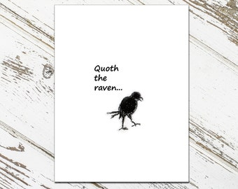 Quoth the Raven Note Cards