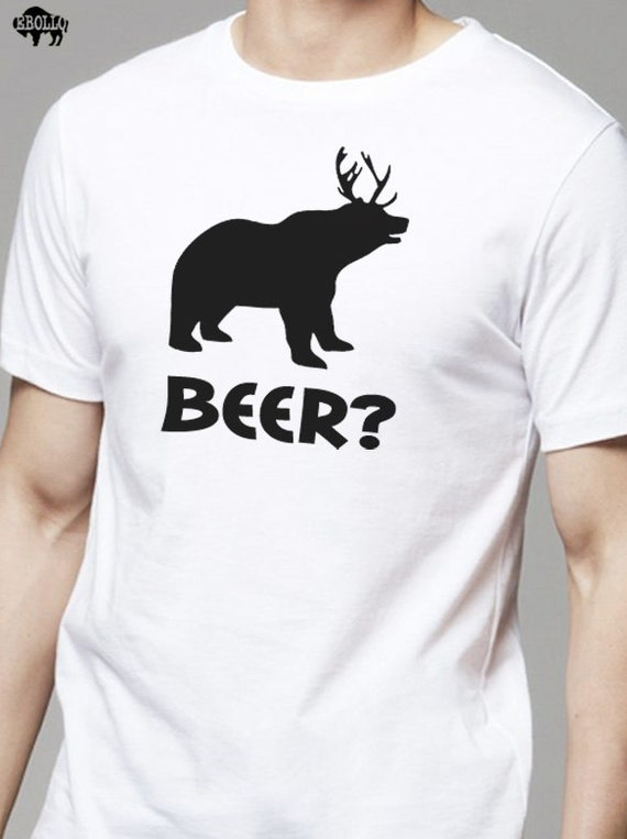 Husband gift beer bear deer mens t shirt fathers day gift publicscrutiny Gallery