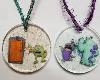 Hand Crafted Resin Ornaments: Monster's Inc.- Mike, Boo, Sully