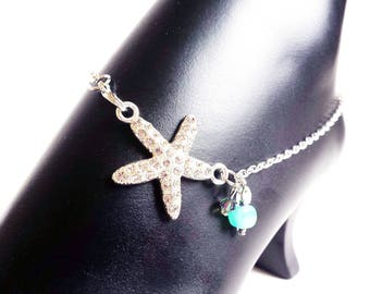 Starfish anklet, Ankle bracelet, Summer anklets, Starfish Jewelry, Beach Anklet, Beachy anklet, Beach jewelry, Beach wedding
