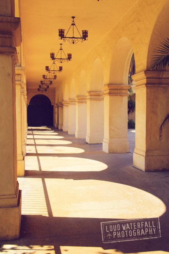 Morning Light Balboa Park Loggia El Prado Spanish Colonial