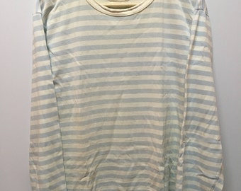 Vintage Agnes B Lolita Breton Striped Long Sleeve Tops Tshirt
