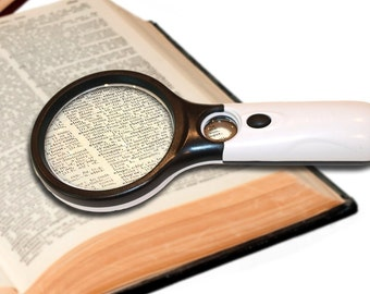3X 45X Magnifying Glass 3 LED Lights Magnifier Fast USA Shipping