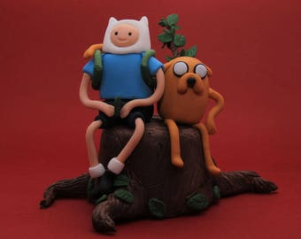 Adventure Time Finn and Jake Personalised Handmade. Fully customizable.  Finn the human and Jake the dog.  Made to order