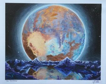 Pluto Rising Fine Art Print