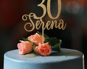 30th birthday cake topper 30th birthday decor 30 cake topper happy 30th birthday custom cake topper birthday decoration birthday cake topper