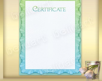 Printable Certificate Template No.3 - Photoshop Template - blank certificate - 8.5 x 11 - Instant Download