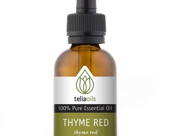 Thyme Red Essential Oil - 100% Pure, Undiluted, Therapeutic Grade  from Teliaoils