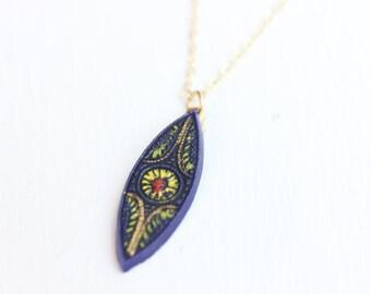 Blue Drop Necklace, Drop Necklace, Gold Filled Necklace, Blue Charm Necklace, Blue Necklace, Flower Necklace, Gold Fill Necklace, Marquise