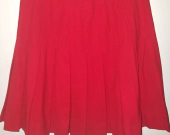 Vintage JH Collectibles red pleated skirt