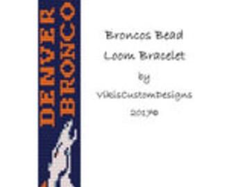 Broncos Bead Loom Bracelet Pattern by VikisCustomDesigns