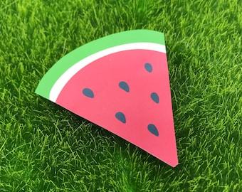 Watermelon Sticker, Watermelon, Sticker, Melon, Sandia, Fruta, Fruit, Red, Green, Seeds