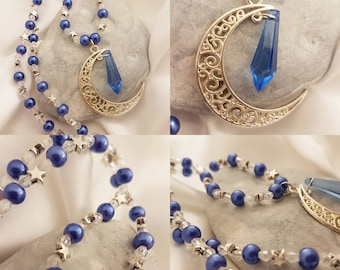 Moon and star necklace