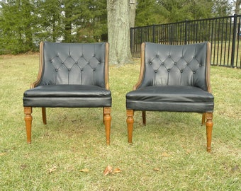 RESERVED FOR CHRIS Vintage Mid Century Accent Lounge Chairs