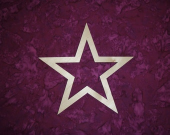"Star Unfinished Wood Star Wooden Cut Out 8"" Inch"