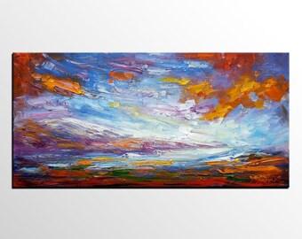 Abstract Landscape Art, Canvas Wall Art, Original Painting, Abstract Painting, Wall Art, Canvas Wall Decor, Abstract Wall Art, Modern Art