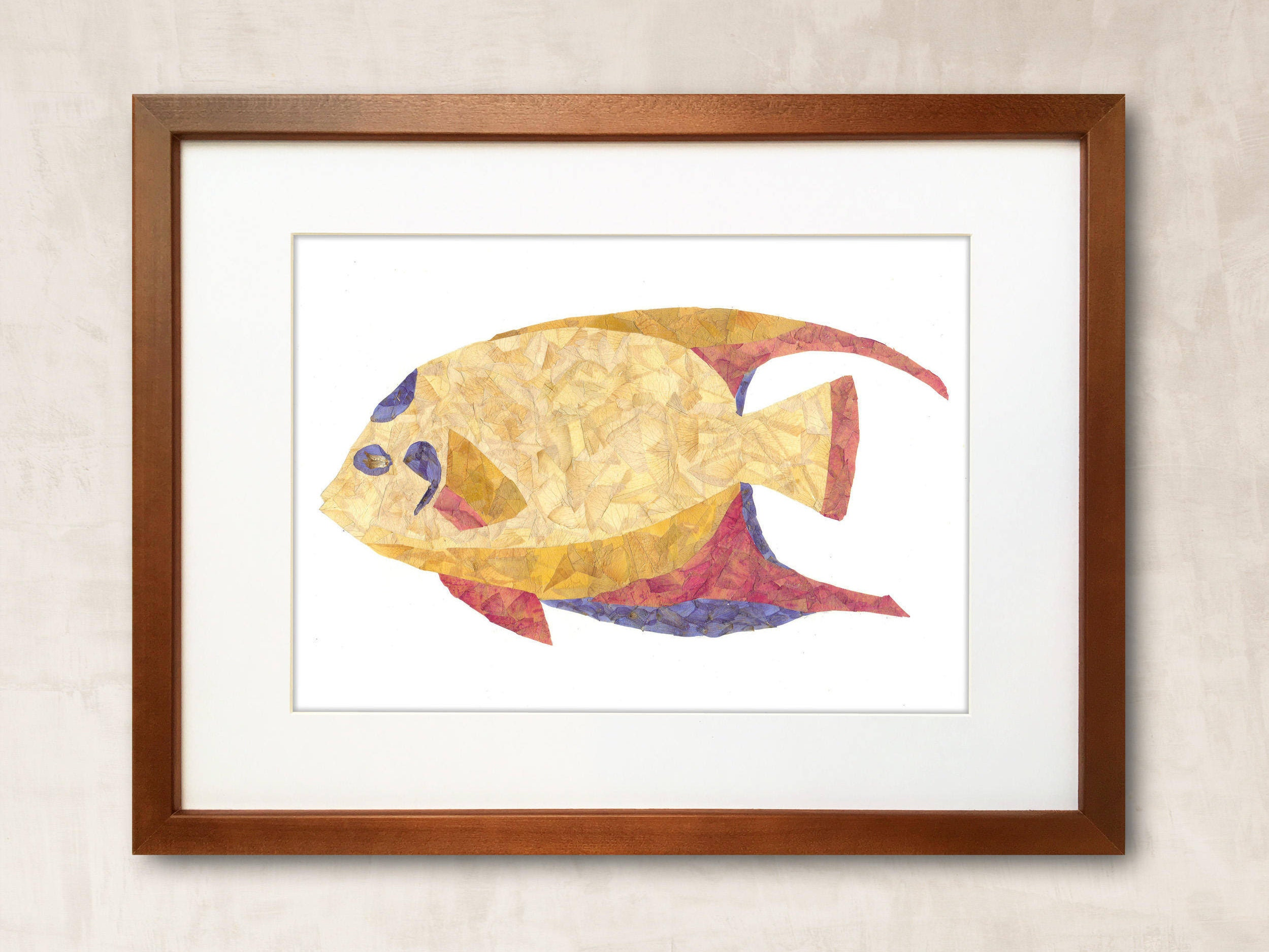 Dried Flowers Floral Fish Tropical Fish Unusual Art Dried