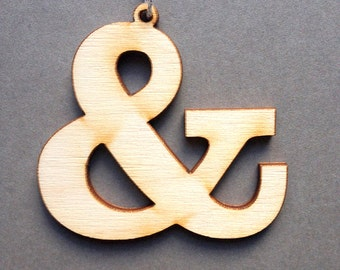 Slab serif ampersand - Typographic Ornament laser cut wood typography graphic design decoration gift