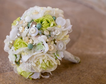 button bouquet buttons and lace 'fairytale'