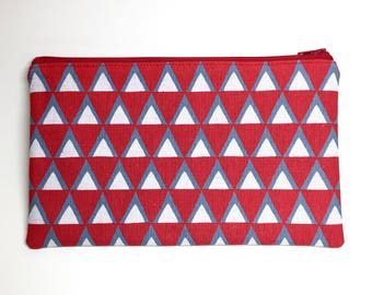 Pencil Case Zip Pouch - Triangles