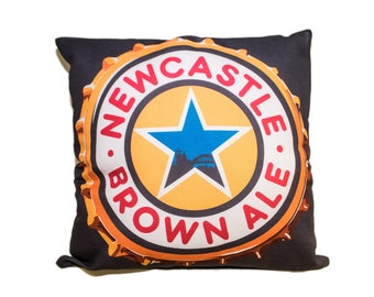 Cushion. Newcastle Brown ale. Newcastle.