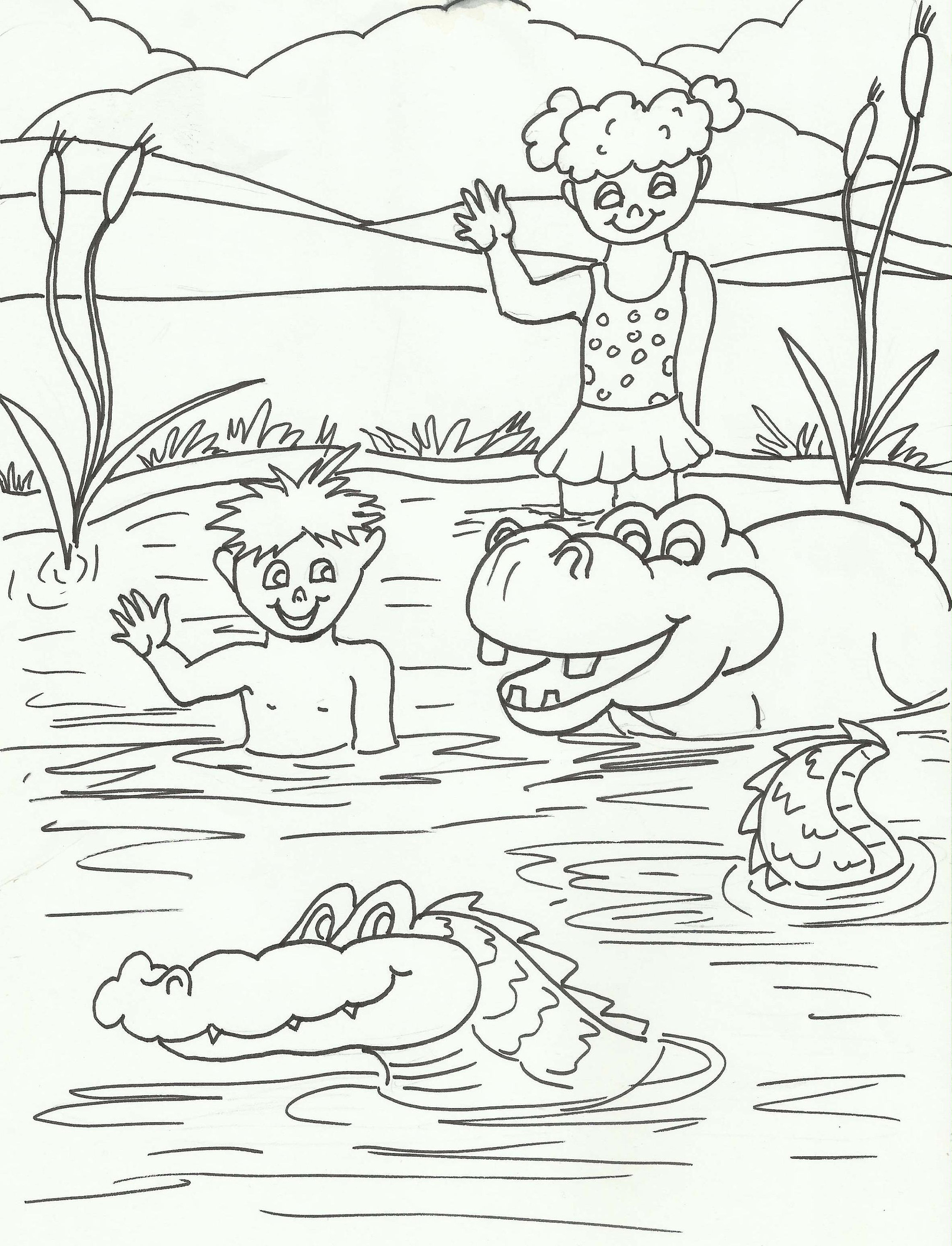 digital childrens lets have fun in paradise coloring pages 10 JW Pioneer School Book zoom