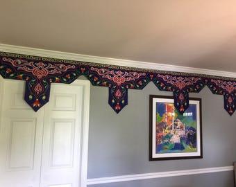 Eid and Ramadan Decorative Fabric Banners - Gorgeous Khayamiya Pattern, Handmade