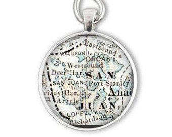 gifts under 15, San Juan Island, Orcas Island, Washington Ornament, personalized gift,christmas gift, boyfriend gift