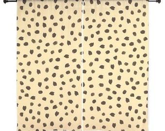 Chiffon Curtains - Animal Print Curtains - Cheetah Print - Sheer Curtains - Bedroom Curtains - Girls Curtains - Teen Curtains - Sheer