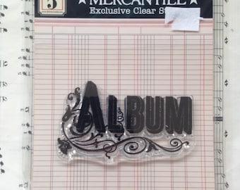 Album - Cling Stamp, Jenni Bowlin, Mercantile Stamp, Journaling, Scrapbooking
