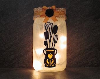 Kitchen Jar Light, Kitchen Decor