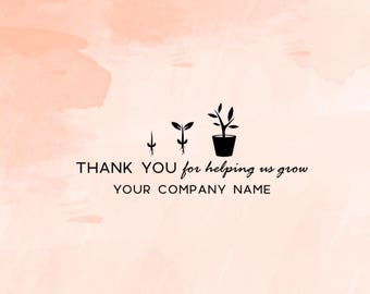 Custom Business Thank You Stamp, Thank You Calligraphy Stamp, Packaging Stamp, Thank You Business Stamp, Shop Stamp - CB735