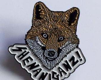 Shenaniganz! Enamel Fox Pins