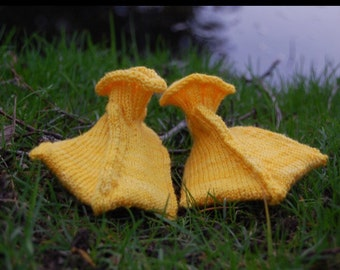 Duck socks/booties 0-3m