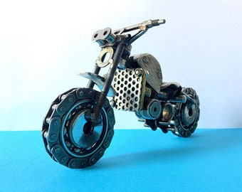 """Scrambler"" motorcycle model made of welded metal!!!"