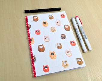 A5 Daruma Cats Bullet Journal Notebook