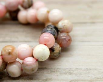 Pink Opal Round Gemstone Beads (4mm 6mm 8mm)