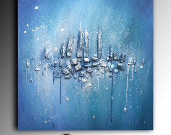 Commission Acrylic Abstract Painting Metallic Painting Original Palette Knife Painting Fine Art Canvas Acrylic Thick Texture  Anna Bulka