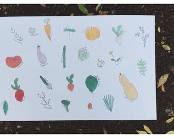 veggie poster