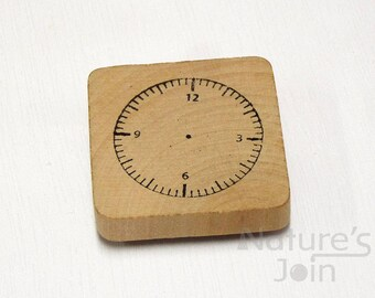 Clock Stamp, Kids Time Learning Stamp, Parenting Stamp, Teachers Stamp, Handmade Rubber Stamp from NaturesJoin SP001