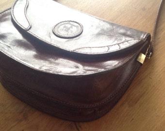 Crossbody bag, leather, Brown purse, brown bag, vintage