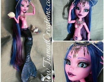 Leanne, the large (60cm) - OOAK Monster High Mermaid