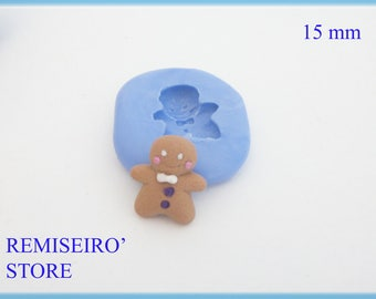 Mold gingerbread d spice silicone 15 mm.
