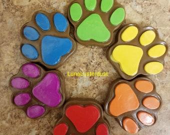 Rainbow Fake Chocolate Pawprint Props