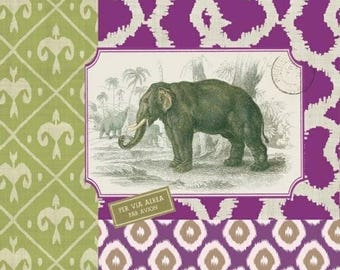 172 the ELEPHANT 1 lunch size paper towel