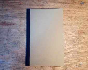 Handmade Cotton Spine Kraft Cahier Journal - Hand Stitched Recycled Paper Notebook