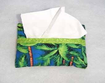 Tissue Holder Quilted - Palm Trees