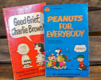 Charlie Brown 2 Comic Books - Peanuts for Everybody and Good Grief Charlie Brown!
