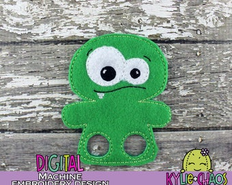Monster Finger Puppet Finger Walker Feltie Busy Book Quiet Book Pretend Play Machine Embroidery Design Pattern