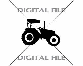 Tractor Vector Images SVG Files Digital Cutting Files  Ai - Eps - PNG - DXF - Svg - A2